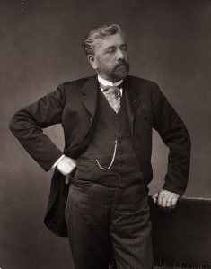 French engineer Alexandre Gustave Eiffel (1832 - 1923), designer of many notable bridges and viaducts and most famously, the Eiffel Tower in Paris. (Photo by Spencer Arnold/Getty Images)
