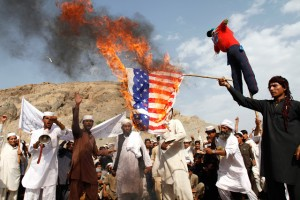 afghans-burn-the-u-s-flag-in-the-ghanikhel