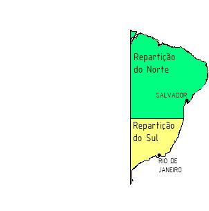 Divisão política administrativa em 1567 no BrasilFonte: Seguindopassoshistoria.blogspot.com